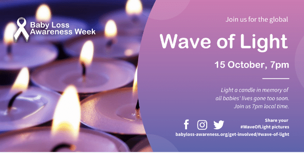 Wave of Light  – 7pm 15.10.20