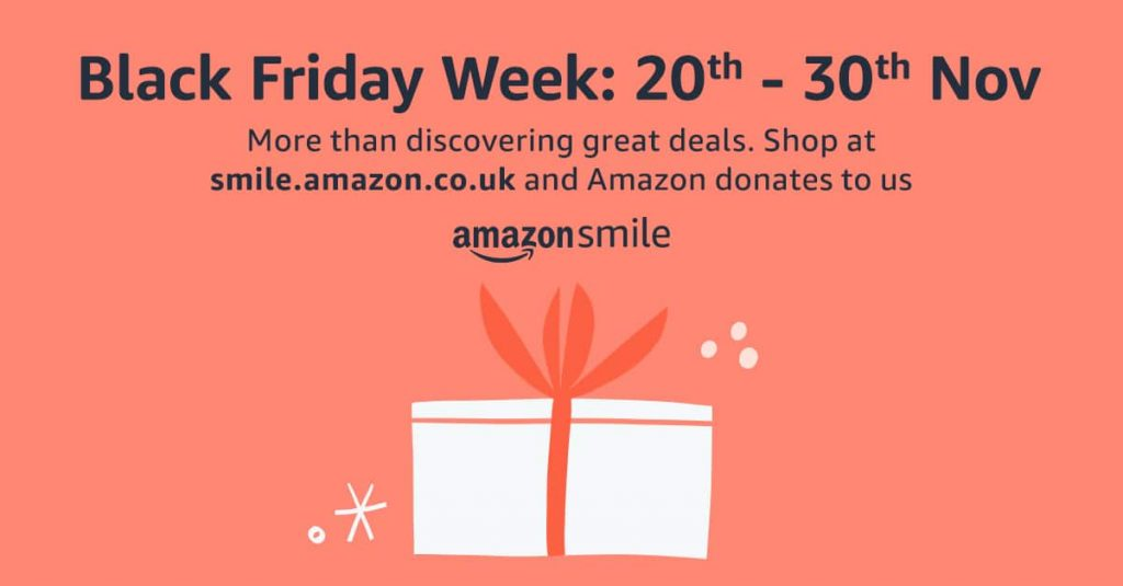 Shop through AmazonSmile for Black Friday Week and help boost our funds!