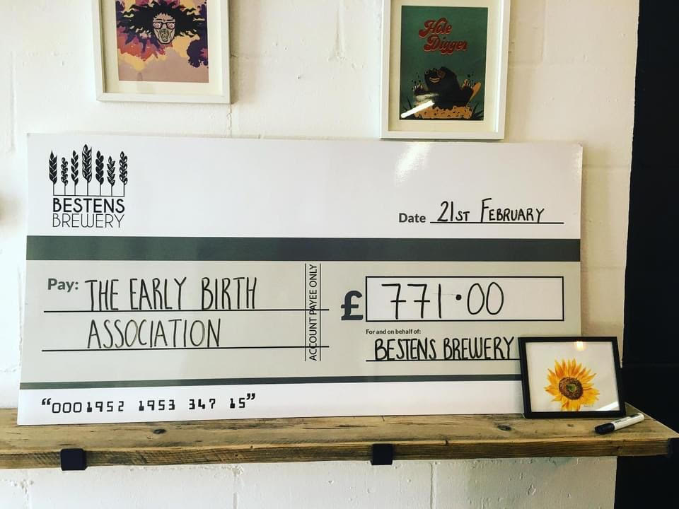 Bestens Brewery  – Spinning Sun sales raise an incredible £771 for The EBA