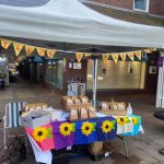 Tilly's Sunflowers Stall in Haywards Heath – fundraising for The EBA!